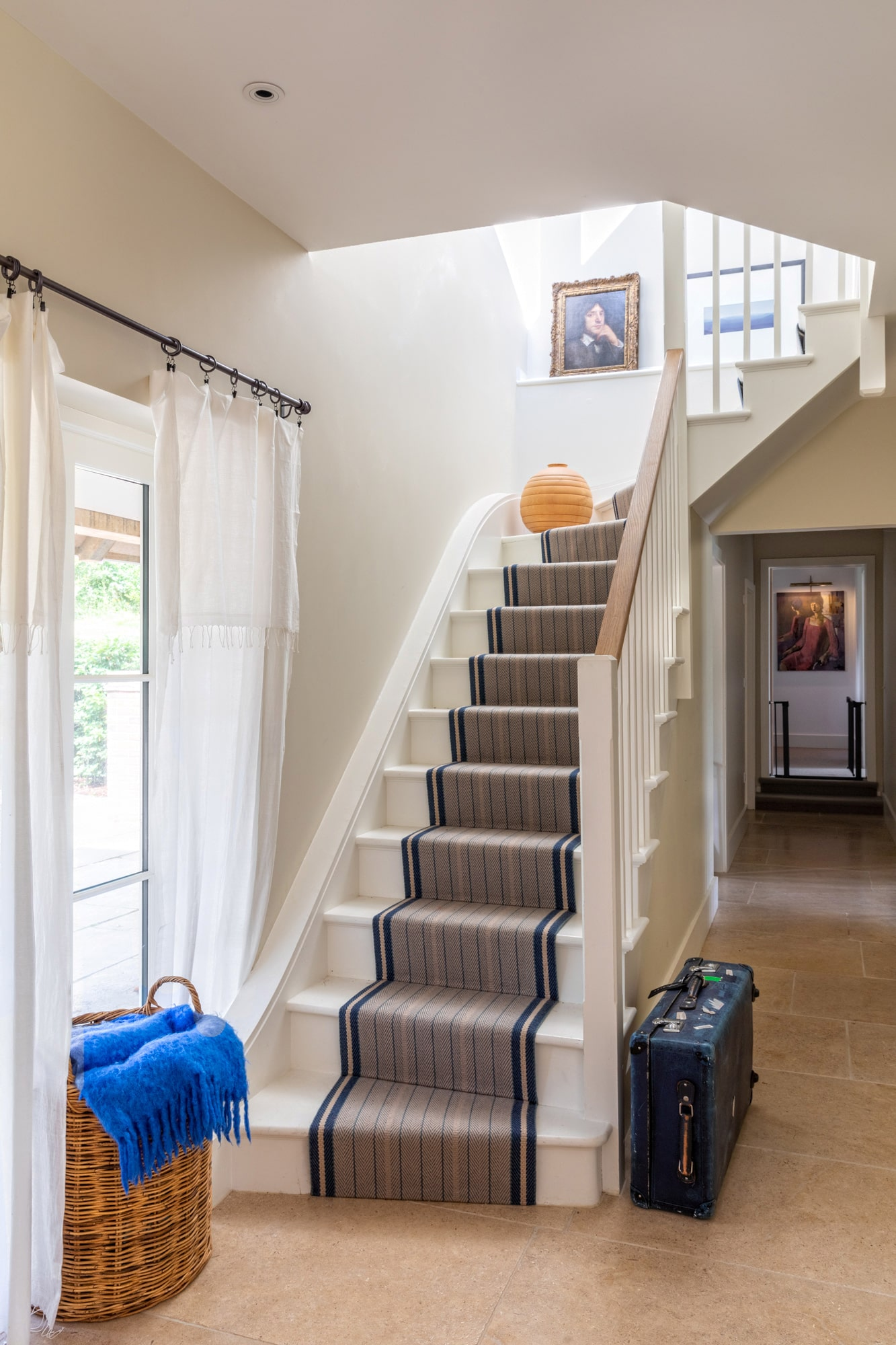 Interior design photography: a staircase in a country house