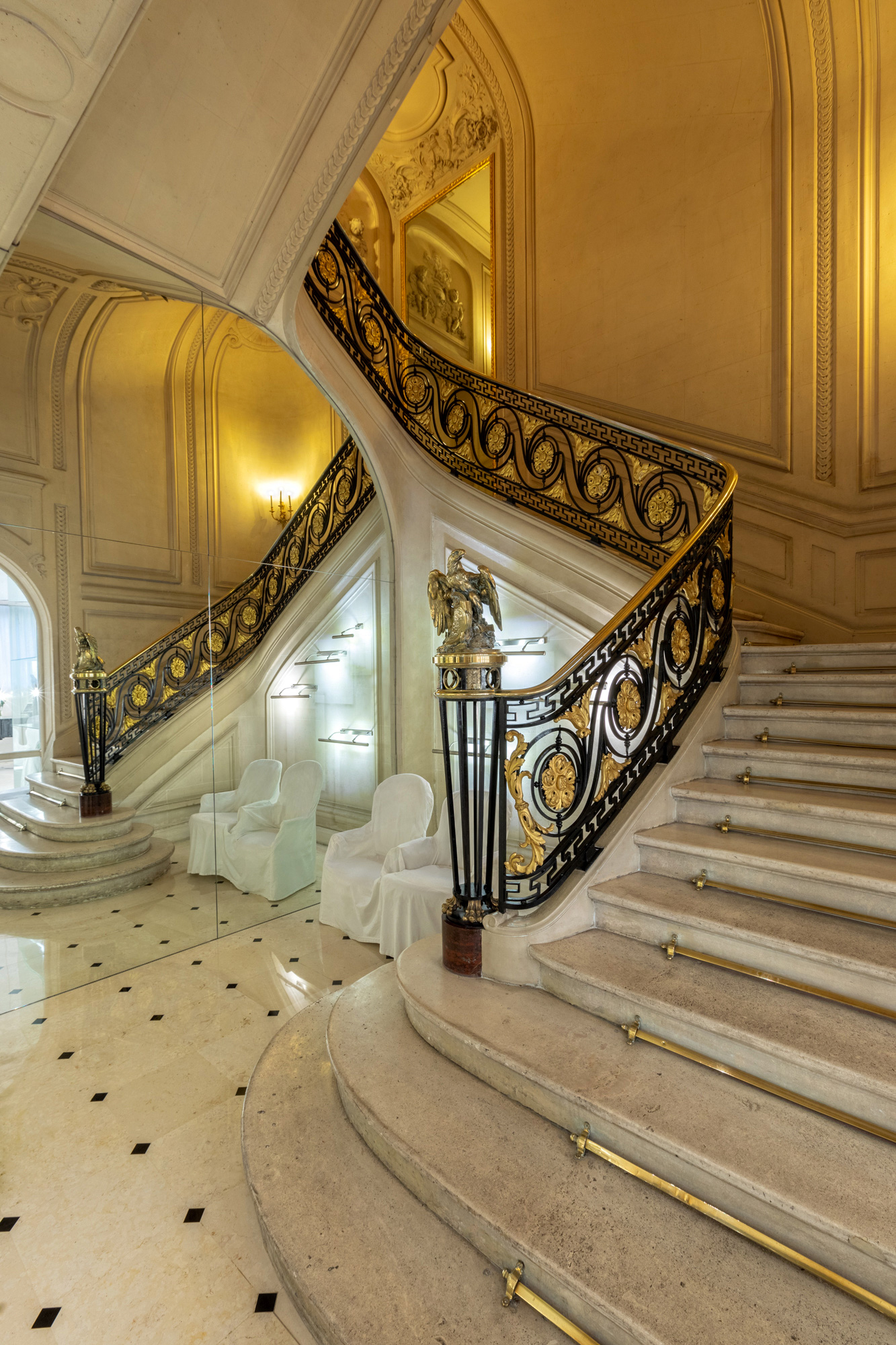hotel staircase overview